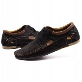 Mario Pala Men's openwork shoes 563 black brown 3