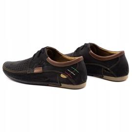 Mario Pala Men's openwork shoes 563 black brown 4