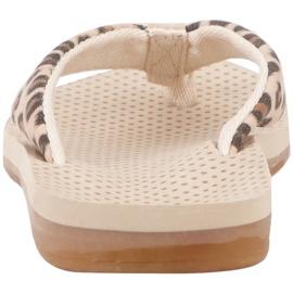 Kappa Fayola beige women's slippers 242980 4150 brown 5