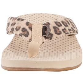 Kappa Fayola beige women's slippers 242980 4150 brown 4