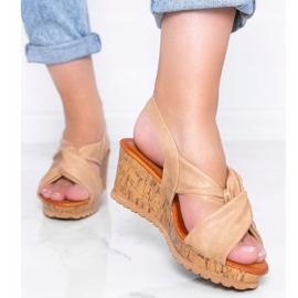 Beige wedge sandals Buenos Aires 1