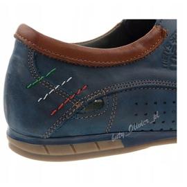 Mario Pala Men's openwork shoes 563 navy blue brown 3