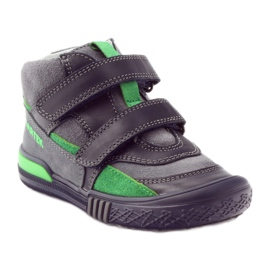 Boots gray-green velcro Bartek 91756 black multicolored grey 1