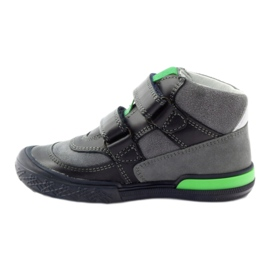 Boots gray-green velcro Bartek 91756 black multicolored grey 2