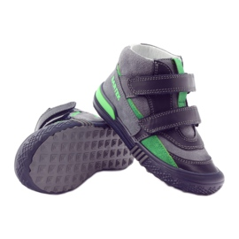 Boots gray-green velcro Bartek 91756 black multicolored grey 3
