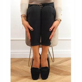 Black Women's loafers S-980 Black 1