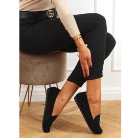 Black Women's loafers S-980 Black 2