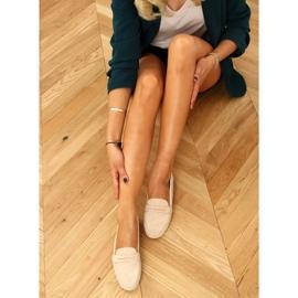 Women's beige loafers S-980 Beige 1