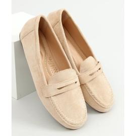Women's beige loafers S-980 Beige 3