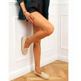 Women's beige loafers S-980 Beige 2