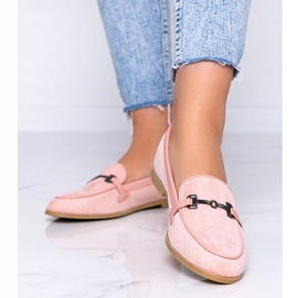 Juliette pink eco-suede loafers 1