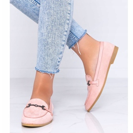 Juliette pink eco-suede loafers 2