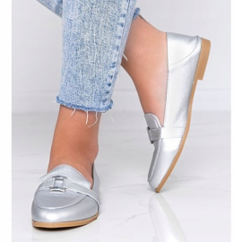 Silver loafers with an Island Paradise buckle 1