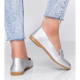 Silver loafers with an Island Paradise buckle 2