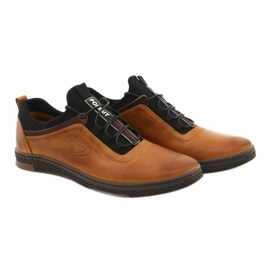 Polbut Men's casual leather shoes K24 camel brown 12