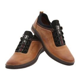 Polbut Men's casual leather shoes K24 camel brown 11