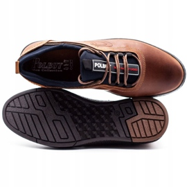 Polbut Men's casual leather shoes K24 camel brown 1