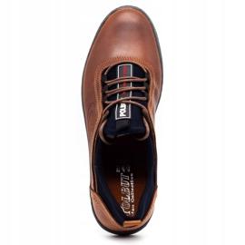 Polbut Men's casual leather shoes K24 camel brown 2