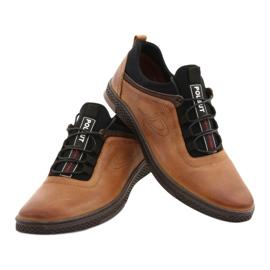 Polbut Men's casual leather shoes K24 camel brown 4