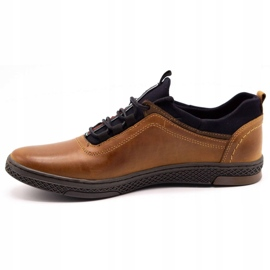 Polbut Men's casual leather shoes K24 camel brown 3
