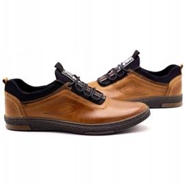 Polbut Men's casual leather shoes K24 camel brown 7