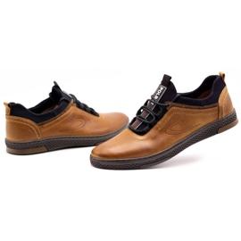 Polbut Men's casual leather shoes K24 camel brown 8