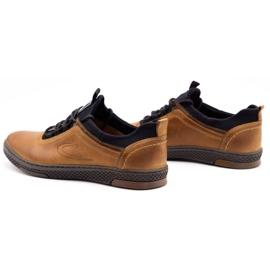 Polbut Men's casual leather shoes K24 camel brown 9