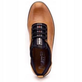Polbut Men's casual leather shoes K24 camel brown 10
