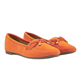 Orange loafers with a bow from Arlene 1