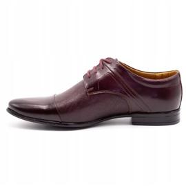Olivier Men's formal shoes 710 claret red 1