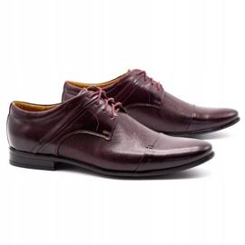 Olivier Men's formal shoes 710 claret red 2