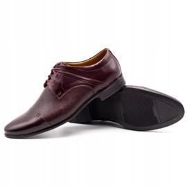 Olivier Men's formal shoes 710 claret red 3