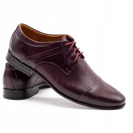 Olivier Men's formal shoes 710 claret red 4