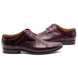 Olivier Men's formal shoes 710 claret red 5