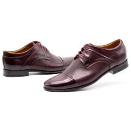 Olivier Men's formal shoes 710 claret red 6