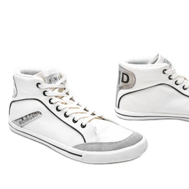 Men's white ankle-high sneakers from Hugo 3
