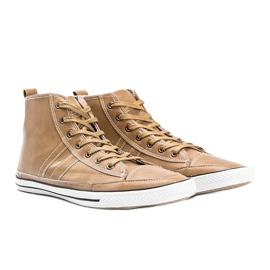Men's beige sneakers Colten 1