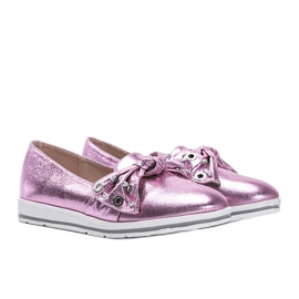 Metallic Pink Loafers With you 1
