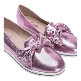 Metallic Pink Loafers With you 2