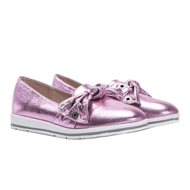 Metallic Pink Loafers With you 3