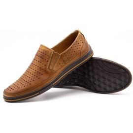 Polbut Men's openwork shoes 2107P camel brown 3