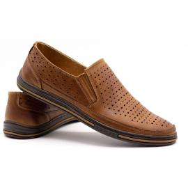 Polbut Men's openwork shoes 2107P camel brown 4