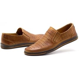 Polbut Men's openwork shoes 2107P camel brown 6