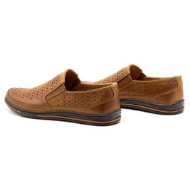 Polbut Men's openwork shoes 2107P camel brown 7