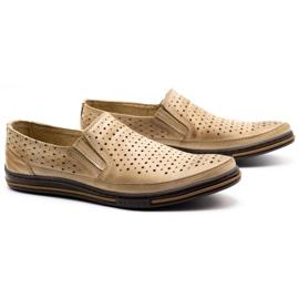 Polbut Men's openwork shoes 2107P beige 2