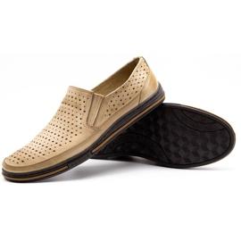 Polbut Men's openwork shoes 2107P beige 3