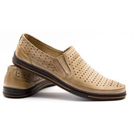 Polbut Men's openwork shoes 2107P beige 4