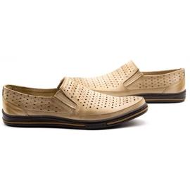 Polbut Men's openwork shoes 2107P beige 5