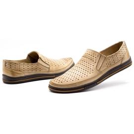Polbut Men's openwork shoes 2107P beige 6