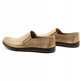 Polbut Men's openwork shoes 2107P beige 7